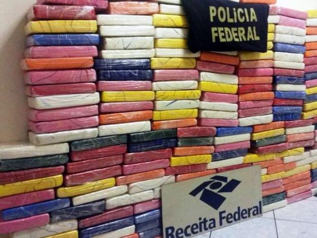 Polícia encontrou 193 tabletes de cocaína (Foto: Divulgação / Polícia Federal)