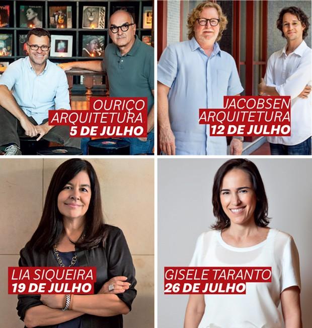 Facebook Live: programação de julho tem quatro arquitetos cariocas! (Foto: Divulgação )