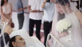 Casamento de �ltima hora aconteceu dentro do hospital (Foto: Reprodu��o / YouTube)
