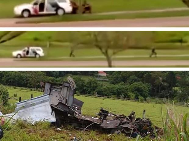 Ataque a carro-forte em Itatiba (Foto: Divulgação)
