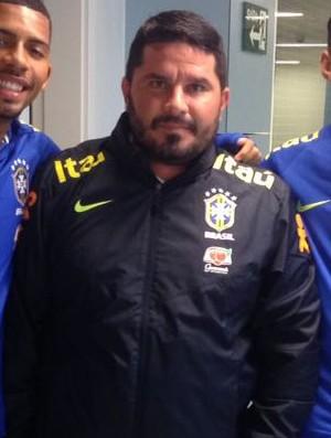 Matheus Fernandes, Eduardo Barroca e Igor Cássio Seleção brasileira sub-20 (Foto: Arquivo pessoal)