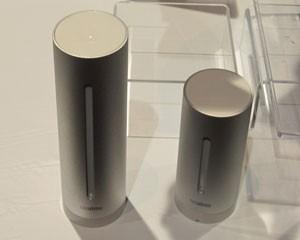 Dois pequenos cilindros de metal podem informar a umidade e a qualidade do ar e a temperatura (Foto: Daniela Braun/G1)