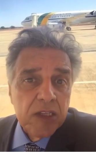 O deputado Beto Mansur gravou um vídeo antes de embarcar para a China (Foto: Reprodução)
