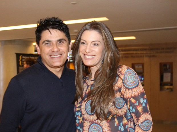 César Filho e Elaine Mickely em festa em São Paulo (Foto: Paduardo/ Ag. News)