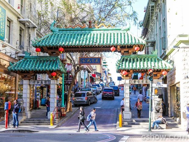 Chinatown de San Francisco é o maior e mais antigo bairro chinês dos EUA (Foto: Aline Kras/TV Globo)