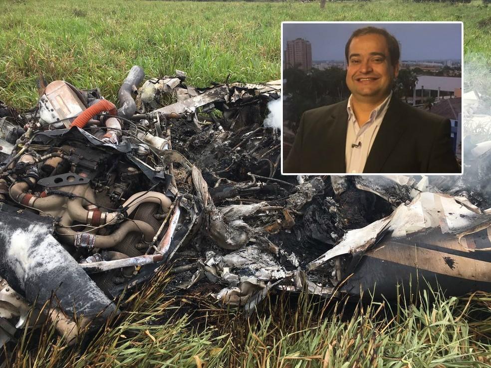 Empresário Luís Fernando, de Araçatuba, morreu em queda de avião em Coxim (MS) (Foto: Reprodução/TV TEM)