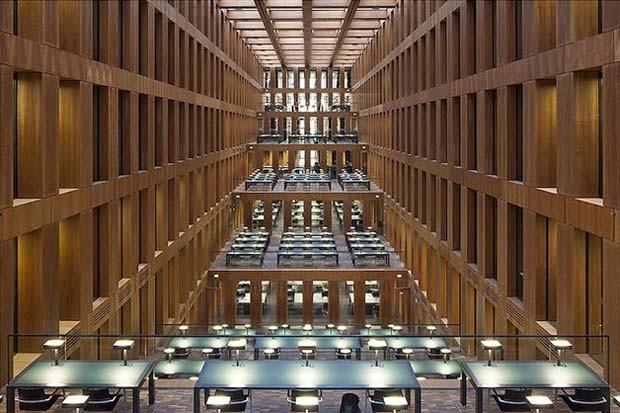 Biblioteca Jacob e Wilhelm Grimm, em Berlim  (Foto: Reinhard Görner)