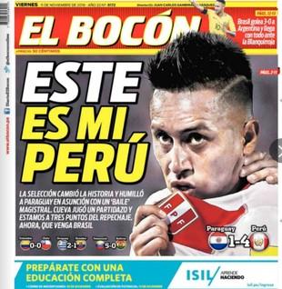 Cueva capa jornal Peru (Foto: Reprodução)