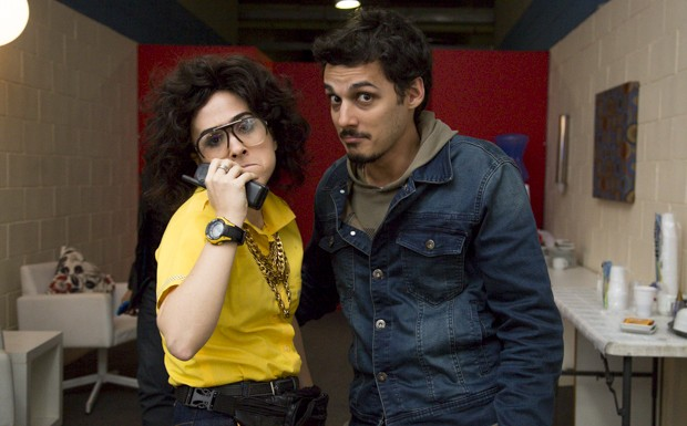 Tat Werneck e Leandro Soares (Foto: Samuel Kobayashi/Multishow)