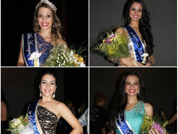 Primeiras colocadas e a Miss Simpatia de Araraquara 2013 (Foto: Rita Motta/ Divulgação)