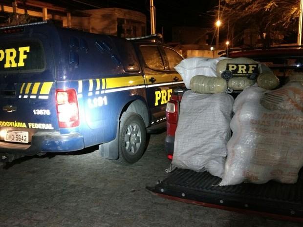 PRF apreendeu 42 kg de maconha em Bezerros (Foto: Divulgação/PRF)