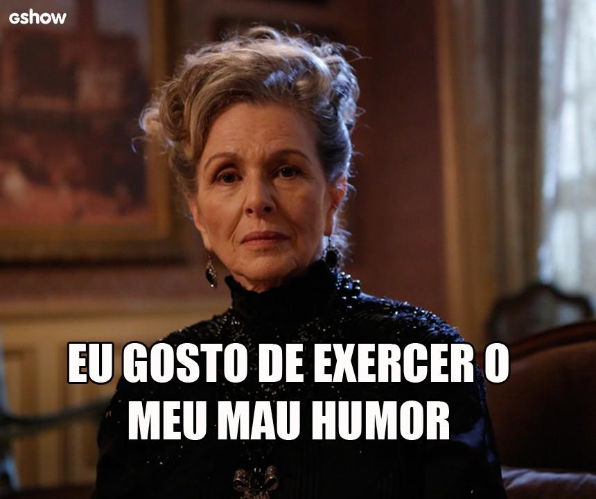 Condessa Vitória e suas pérolas em 'Além do Tempo' (Foto: Gshow)