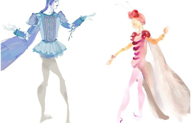 Christian Lacroix's watercolour costume illustrations for A Midsummer Night's Dream (Foto: CHRISTIAN LACROIX)