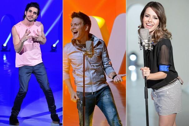 Fiuk, Michel Teló e Sandy estão entre os cerca de 50 cantores que interpretam a música 'Vem Aí na Globo' (Foto: João Miguel JR./Rede Globo)