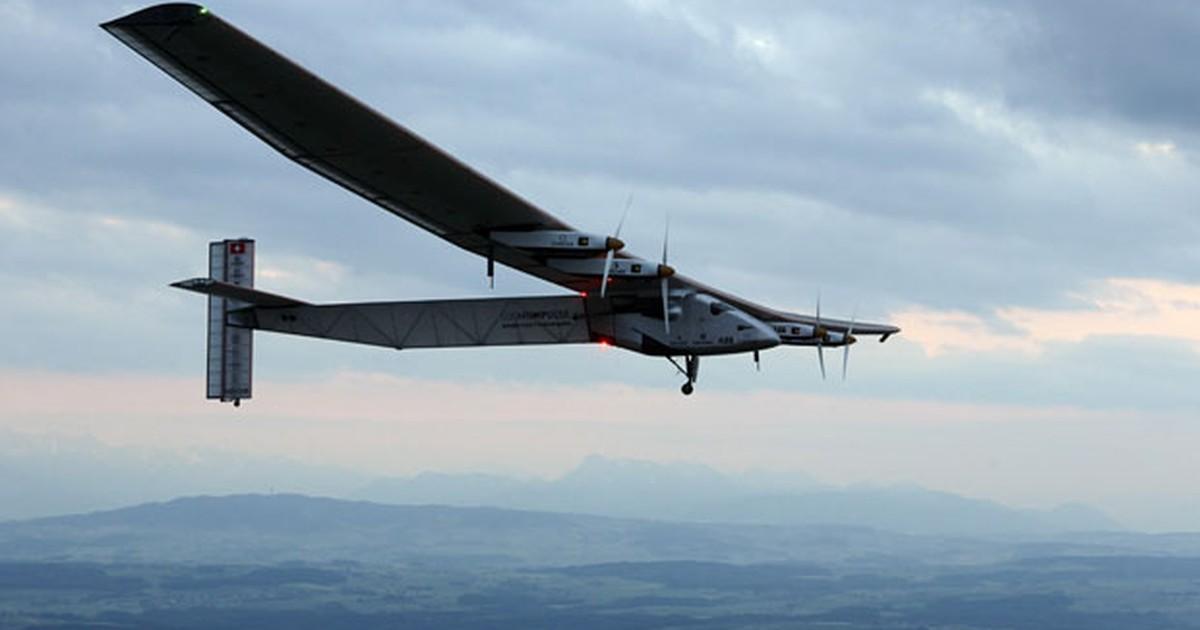 Avião movido a energia solar decola da China para cruzar o Pacífico