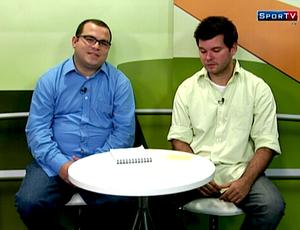 Cassius Leitão e Eduardo Peixoto no programa do Cartola (Foto: Reprodução SporTV)