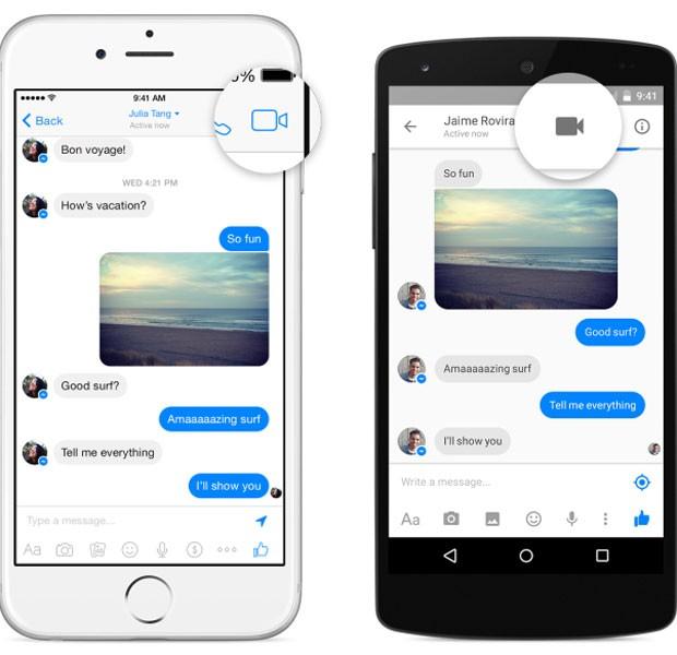 Messenger, aplicativo de bate-papo do Facebook, passa a fazer chamadas de vídeo. (Foto: Divulgação/Facebook)