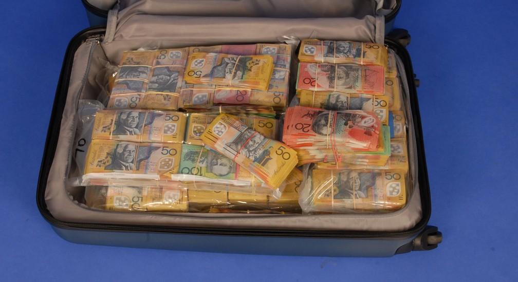 A mala encontrada pela polícia federal australiana (Foto: Australian Federal Police/Facebook)