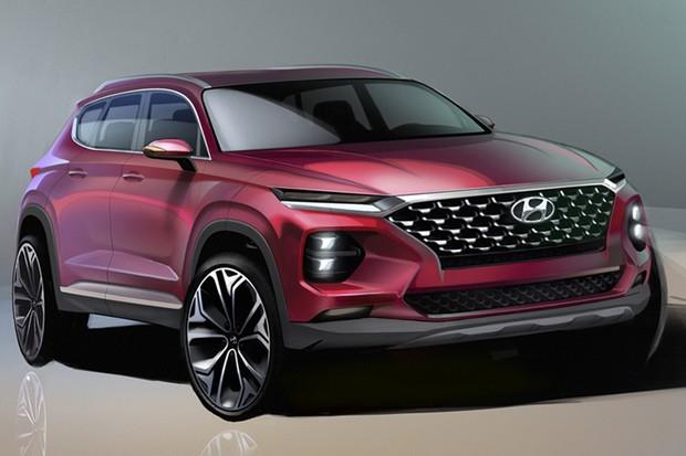 Hyundai divulga primeiras imagens da nova geração do Santa Fe (Foto: Divulgação)