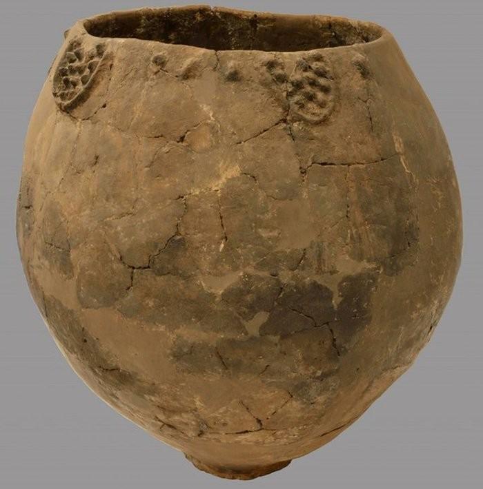 Jarro de cerâmica que carregava vinho  (Foto: National Museum of Georgia)