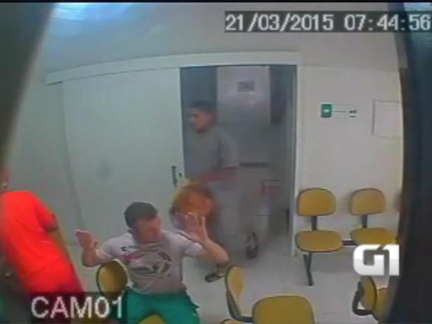 Assalto a clínica no bairro Petrópolis aconteceu no dia 21 de março (Foto: Reprodução)