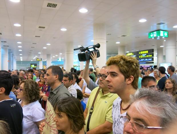 chegada neymar (Foto: Alexandre Lopes / Globoesporte.com)