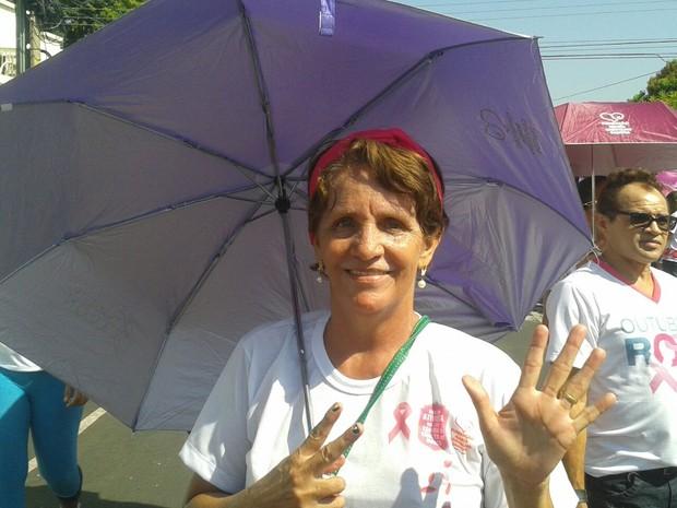 Para Alice Maria, o importância é não perder a alegria luta contra o câncer (Foto: Gustavo Almeida/G1)