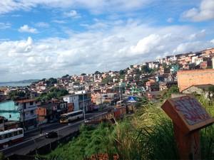 Subúrbio de Salvador (Foto: Henrique Mendes/G1)