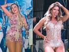 Ellen Rocche e Tati Minerato ousam nos modelitos em noite de samba