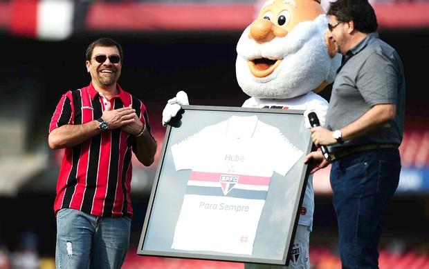 Homenagem Hebe, São Paulo e Palmeiras (Foto: Marcos Ribolli / Globoesporte.com)