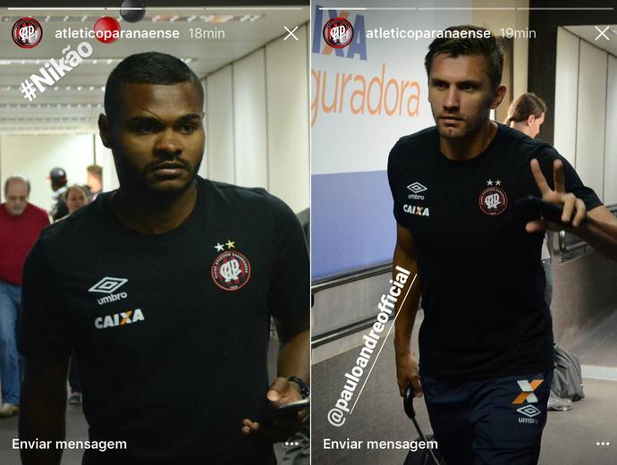 Nikão Paulo André Atlético-PR (Foto: Reprodução/Instagram do Atlético-PR)