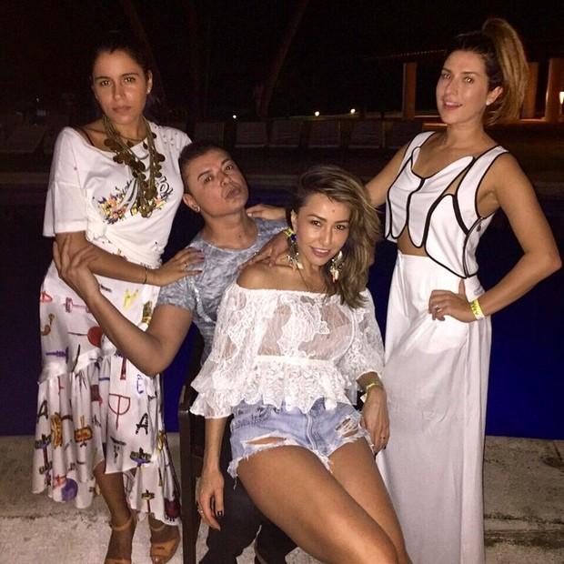 Sabrina Sato, Fernanda Paes Leme, Marina Morena e David Brazil (Foto: Reprodução/Instagram)