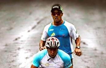 Com braço quebrado, Daniel ajuda amigo cadeirante a fazer maratona