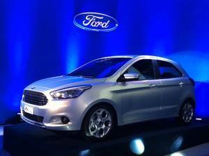 Durante a apresentação do novo Ka, o presidente da Ford América do Sul, Steven Armstrong, anunciou que a empresa vai aumentar a capacidade da planta de Camaçari e terá uma fábrica de motores no local, prevista para o próximo ano (Foto: Luciana de Oliveira / G1)