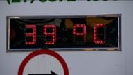 Termômetro de Linhares, ES, marca 39° C