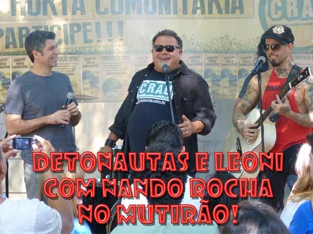 Leoni, Nando Rocha e Tico Santa Cruz (Foto: Malhação / TV Globo)