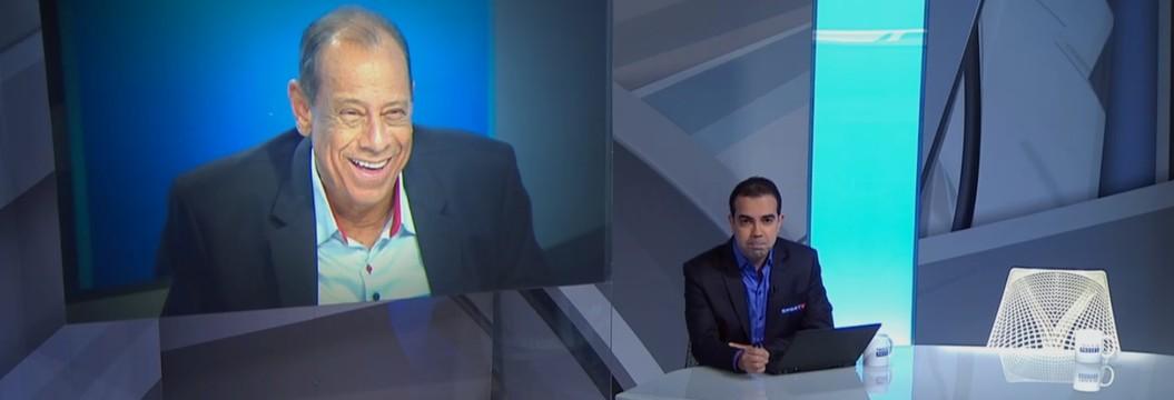 """SporTV presta homenagem a Carlos Alberto  Torres e deixa cadeira vazia no """"Troca de Passes"""" (Reprodução / SporTV)"""