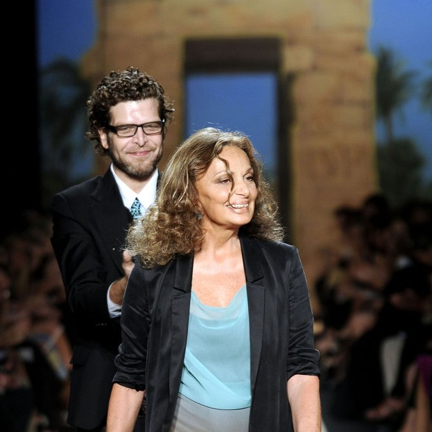 Diane von Furstenberg e Nathan Jenden (Foto: Reprodução)