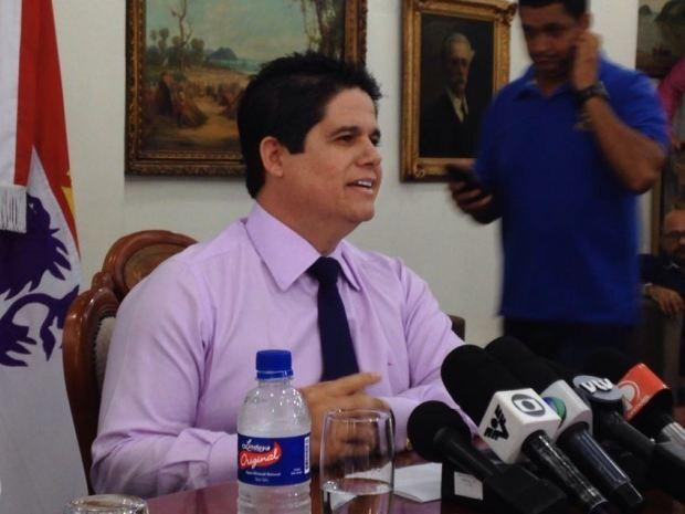 Luis Claudio Bili (PP) concedeu uma entrevista nesta segunda-feira (Foto: João Paulo de Castro / G1)