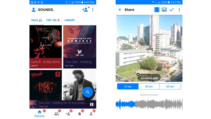 Serviço permite descobrir novas músicas e compartilhá-las com amigos (Foto: Reprodução/Sounds)