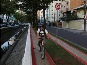 Ciclovia Canal 6 Santos  (Foto: Divulgação / Prefeitura de Santos)