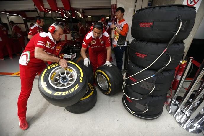GP da China, Fórmula 1, pneus (Foto: AP)