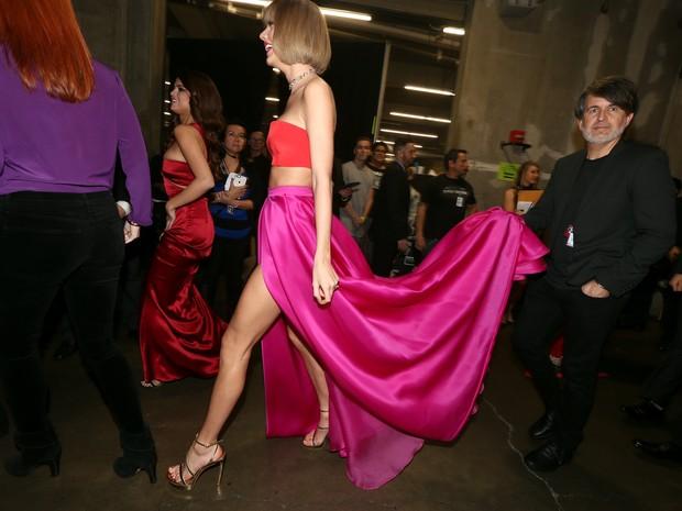 Taylor Swift no Grammy, em Los Angeles, nos Estados Unidos (Foto: Christopher Polk/ Getty Images/ AFP)