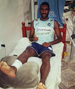 Isaias Balotteli, jogador do São Raimundo-RR (Foto: Divulgação/SREC)