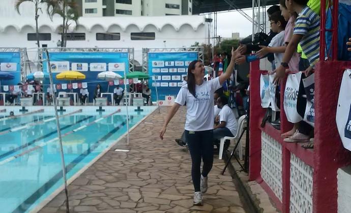 Fabiola Molina Swim4change São José natação (Foto: Gabriel Dantas/ GloboEsporte.com)