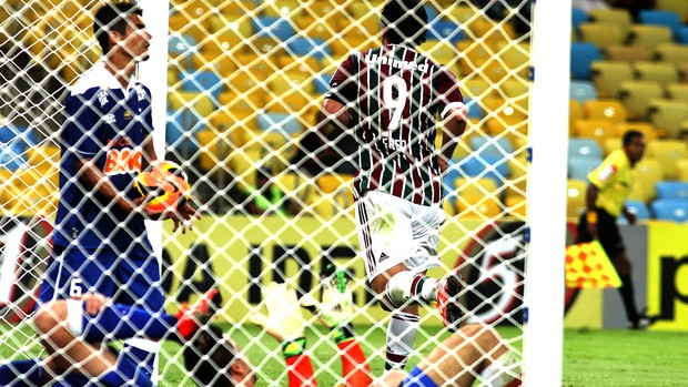 Fred comemora gol Fluminense e Cruzeiro (Foto: Nelson Perez / Fluminense. F.C.)