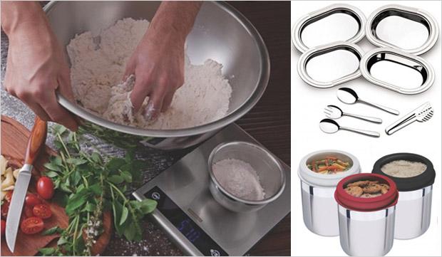 Conjunto com potes de tampa plstica , kit para servir Ciclo e pote com tampa plstica (Foto: Divulgao)