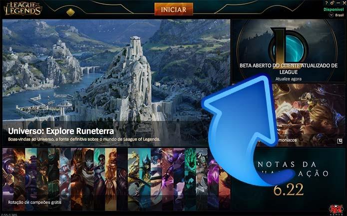 Como baixar e instalar o beta da versão atualizada do League of Legends (Foto: Reprodução/Murilo Molina)