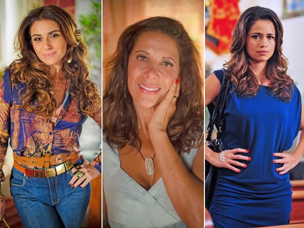 Atrizes não abrem mão do aplique para dar vida às personagens (Foto: Mais Você / TV Globo)