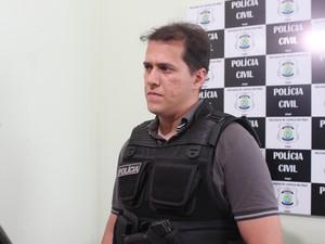 Delegado Laércio Evangelista, responsável pela investigação (Foto: Catarina Costa/G1)